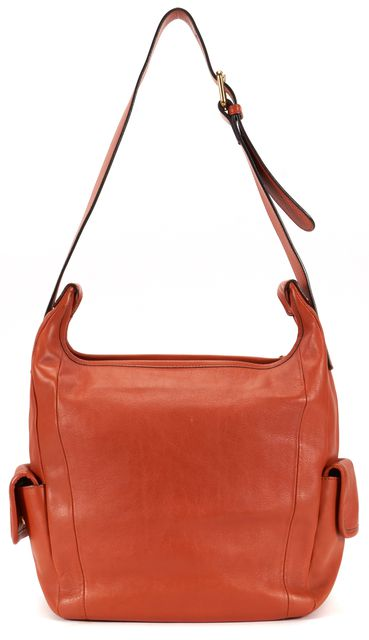 CHLOÉ CHLOÉ Burnt Orange Leather Pocket Fringe Tassel Shoulder Hobo Bag