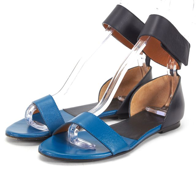 CHLOÉ CHLOÉ Blue Leather Gala Ankle Strap Sandals