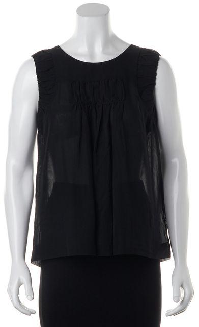 CHLOÉ Black Silk Sleeveless Top