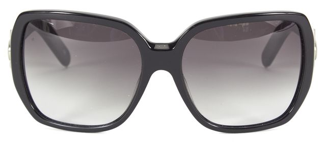 CHLOÉ CHLOÉ Black Acetate Oversized Square Frame Sunglasses w/ Case