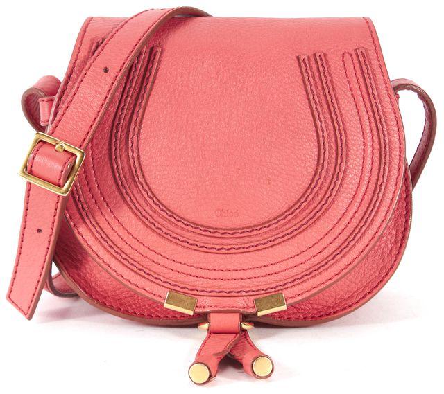 CHLOÉ Pink Leather Mini Marcie Crossbody Bag