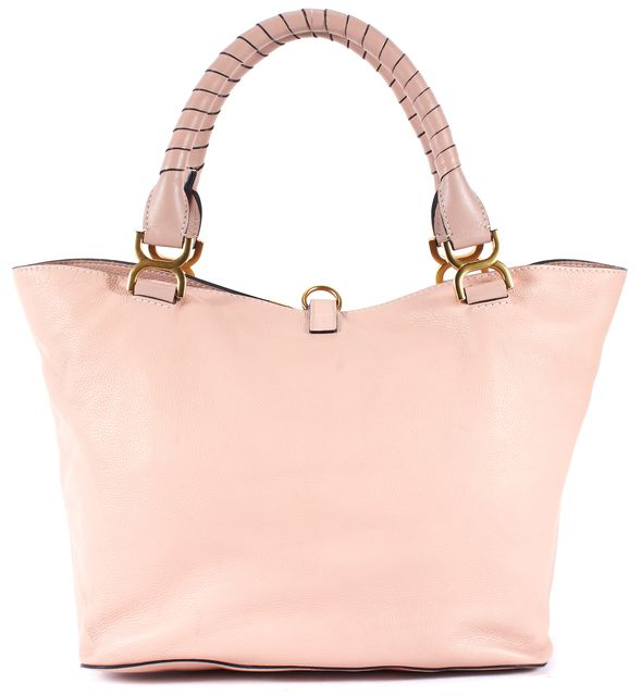 CHLOÉ Cement Pink Gold Tone Hardware Marcie Genuine Leather Tote