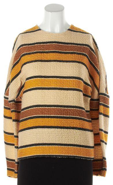 CHLOÉ Yellow Striped Wool Knit Top