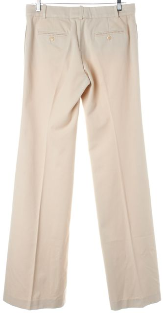 CHLOÉ Ivory Cotton Cashmere Wide Leg Trouser Dress Pants