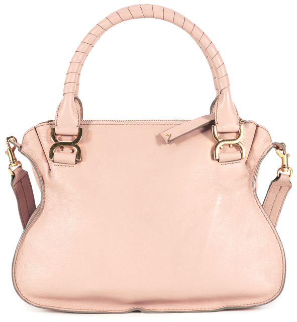 CHLOÉ Beige Leather Gold Hardware Marcie Satchel