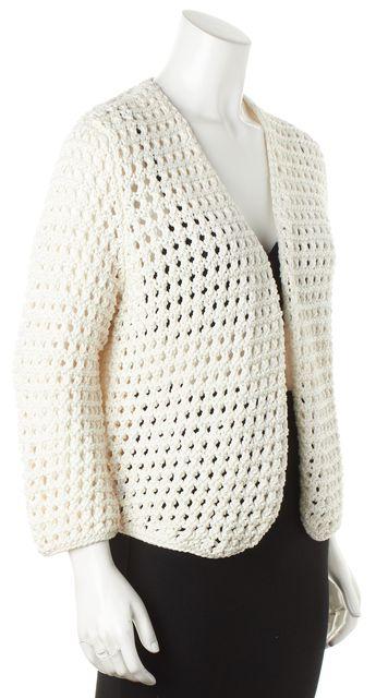 CHLOÉ White Garment Cardigan Sweater
