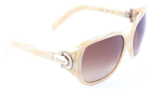 CHLOÉ Ivory Square Brown Lens Sunglasses