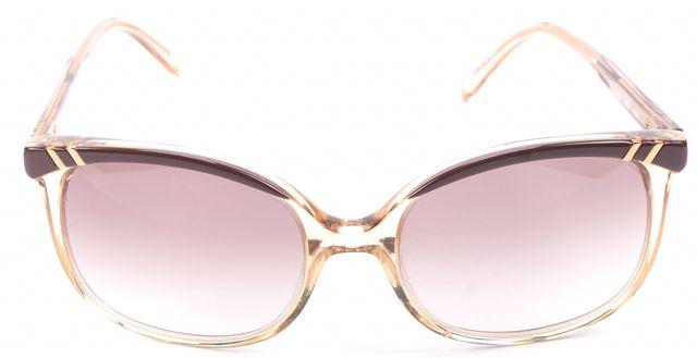 CHLOÉ Brown Gradient Lens Square Sunglasses