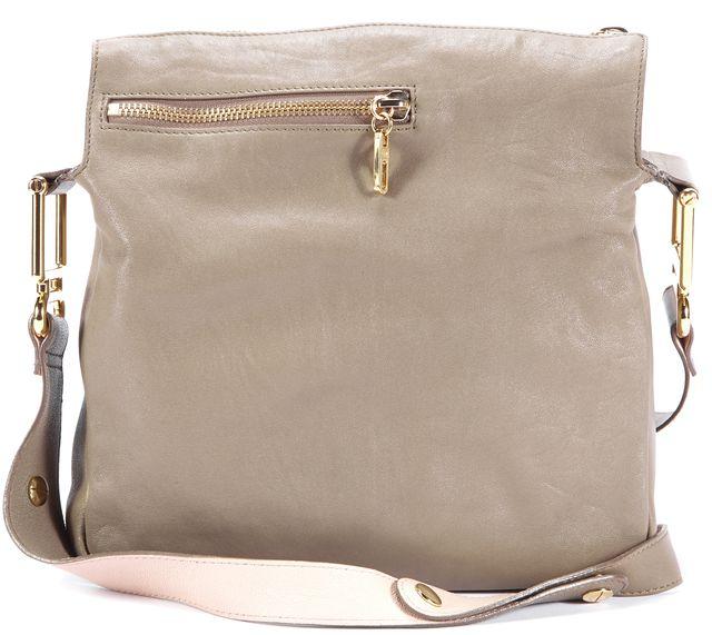 CHLOÉ Gray Nude Pink Leather Gold-Tone Hardware Vanessa Shoulder Bag