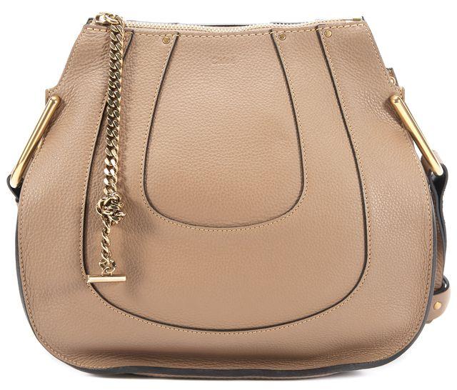 CHLOÉ Brown Leather Hayley Shoulder Bag Handbag