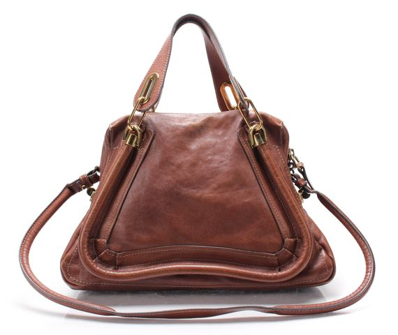 CHLOÉ CHLOÉ Brown Paraty Medium Leather Satchel Shoulder Bag