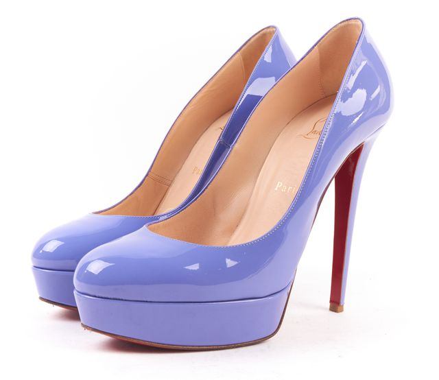 "CHRISTIAN LOUBOUTIN Lilac Patent Leather ""Bianca"" 140mm Heels"