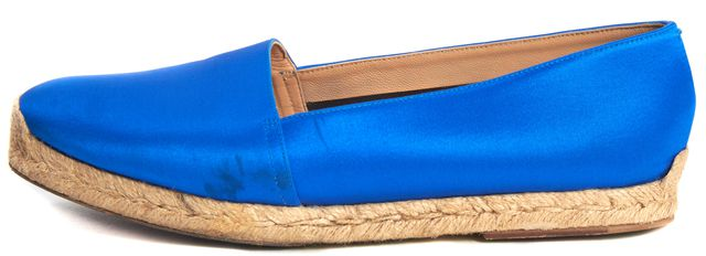 CHRISTIAN LOUBOUTIN Blue Satin Espachica 20 Espadrille Flats