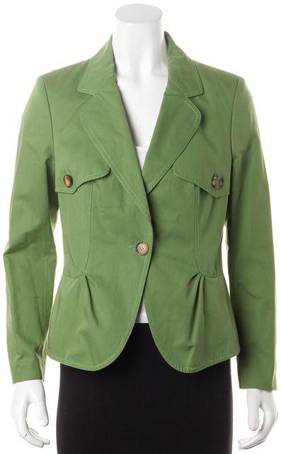 CAROLINA HERRERA Lime Green Blazer