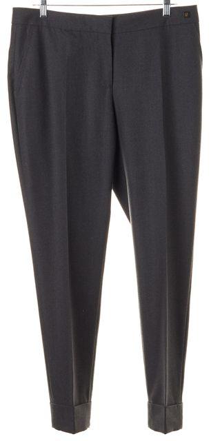 CH CAROLINA HERRERA Charcoal Gray Wool Trouser Dress Pants