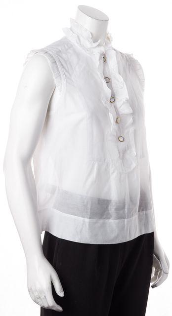 CAROLINA HERRERA White Ruffle Top