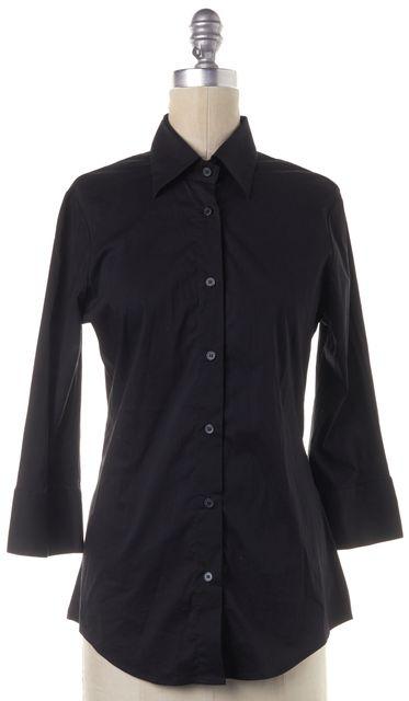 CALVIN KLEIN COLLECTION Black Long Sleeve Button Down Shirt