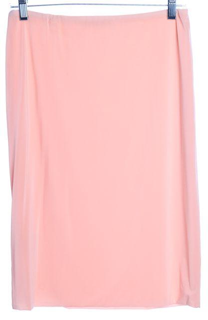 CALVIN KLEIN COLLECTION Pink Stretch Straight Skirt