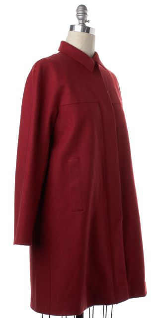CALVIN KLEIN COLLECTION Red Wool Coat
