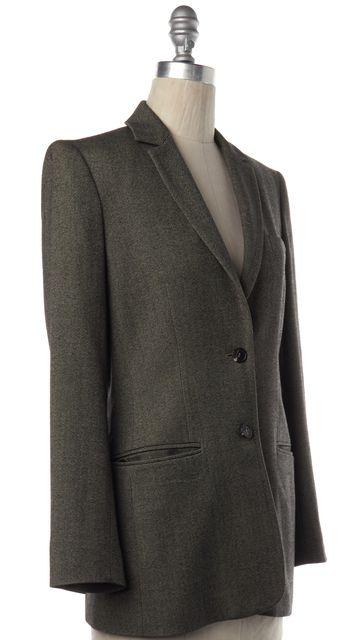 CALVIN KLEIN COLLECTION Black Beige Tweed Wool Blazer