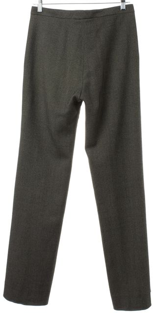CALVIN KLEIN COLLECTION Black Tweed Wool Trousers Pants