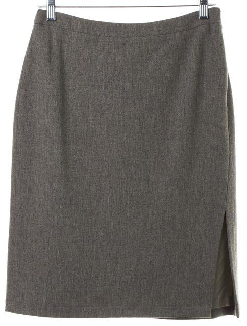 CALVIN KLEIN COLLECTION Gray Wool Pencil Skirt