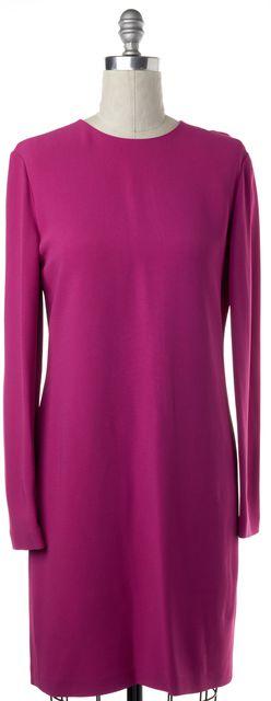 CALVIN KLEIN COLLECTION Fuchsia Pink Long Sleeve Shift Dress