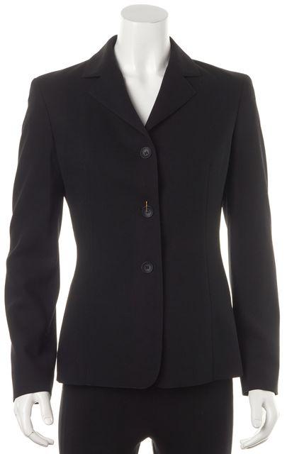 CALVIN KLEIN COLLECTION Black Wool Classic Blazer