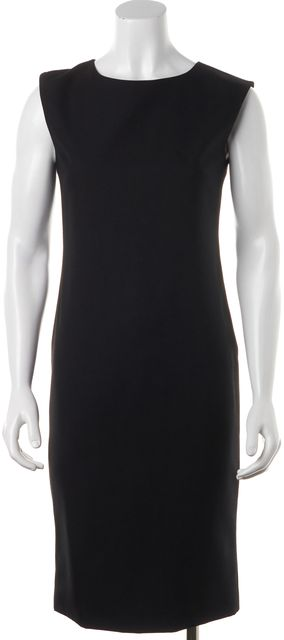 CALVIN KLEIN COLLECTION Black Wool Sheath Dress