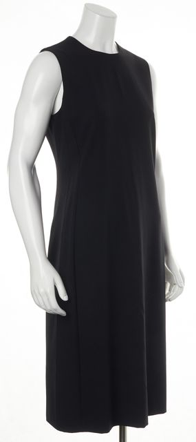 CALVIN KLEIN COLLECTION Black Wool Sleeveless Sheath Dress