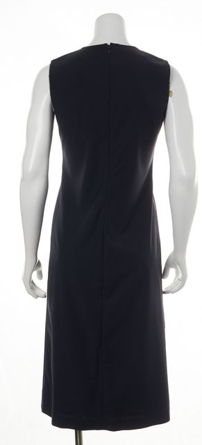 CALVIN KLEIN COLLECTION Navy Sleeveless Shift Dress
