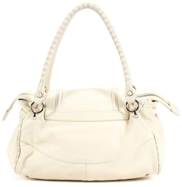 CALVIN KLEIN COLLECTION White Top Handle Shoulder Bag