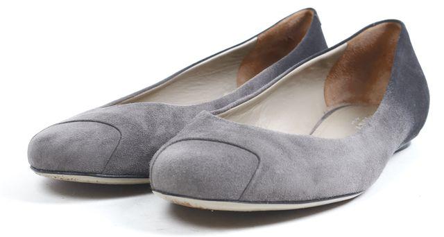 CALVIN KLEIN COLLECTION Gray Ombre Suede Ballet Flats