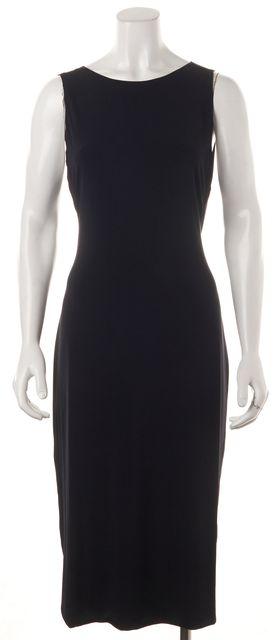 CALVIN KLEIN COLLECTION Navy Blue Open Back Sleeveless Bodycon Dress