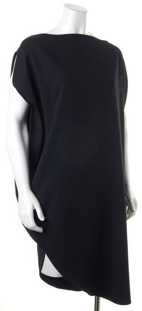 CALVIN KLEIN COLLECTION Black Asymmetrical Sleeveless Shift Dress