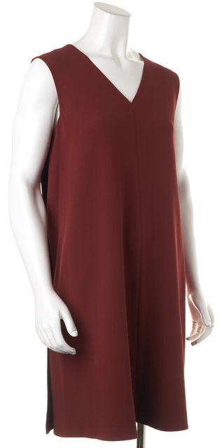 CALVIN KLEIN COLLECTION Brick Red Sleeveless Shift Dress