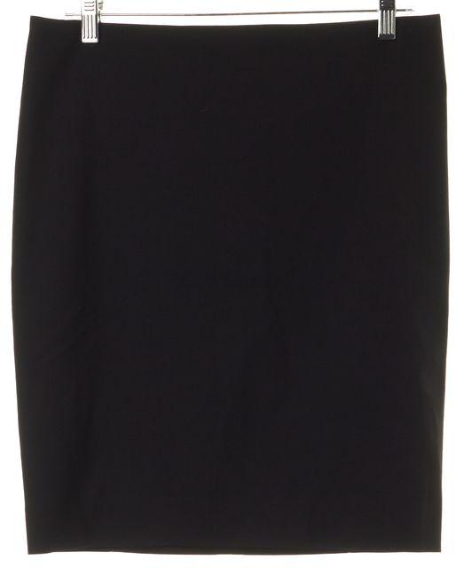 CALVIN KLEIN COLLECTION Black Wool Mini Skirt