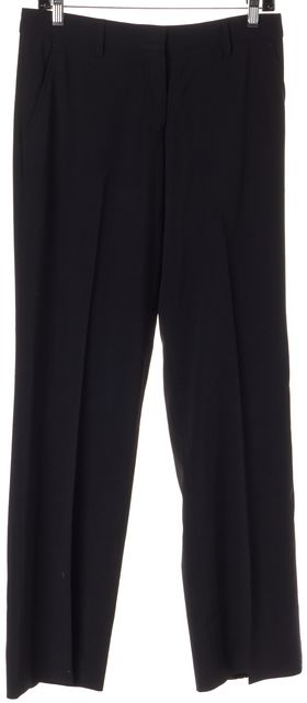 CALVIN KLEIN COLLECTION Black High Rise Pleated Trousers Pants