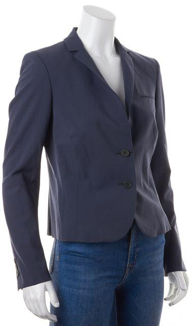 CALVIN KLEIN COLLECTION Dusty Blue Wool Two Button Blazer