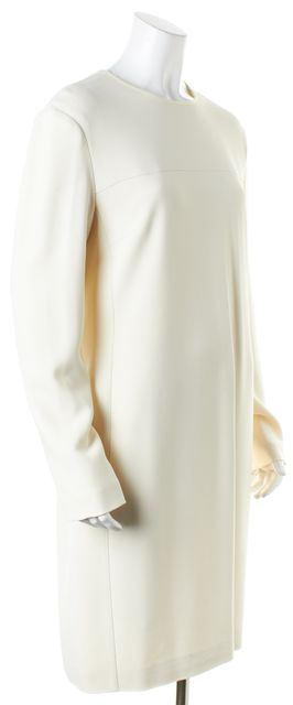 CALVIN KLEIN COLLECTION Ivory Sleeveless Meadow Shift Dress