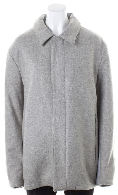 CALVIN KLEIN COLLECTION Gray Cashmere Nylon Basic Coat