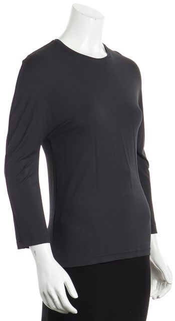 CALVIN KLEIN COLLECTION Charcoal Gray 3/4 Sleeve Top Blouse Size 46 US 10, M