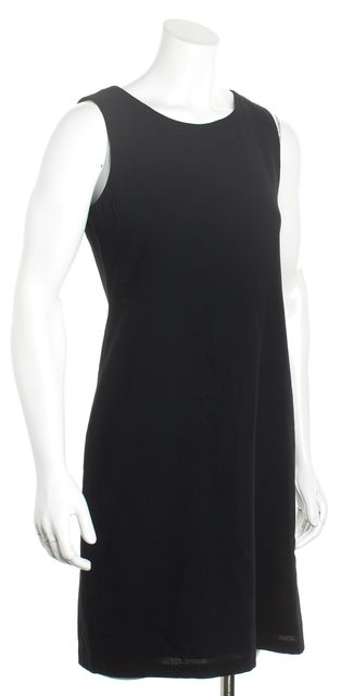 CALVIN KLEIN COLLECTION Black Sleeveless Knee-Length Shift Dress