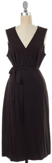 CALVIN KLEIN Brown Wrap Dress
