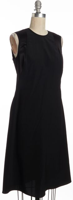 CALVIN KLEIN Sleeveless Knee Length Sheath Little Black Dress