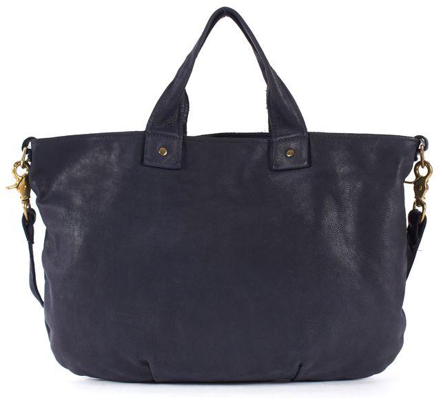 CLARE VIVIER Navy Blue Leather Tote Shoulder Bag