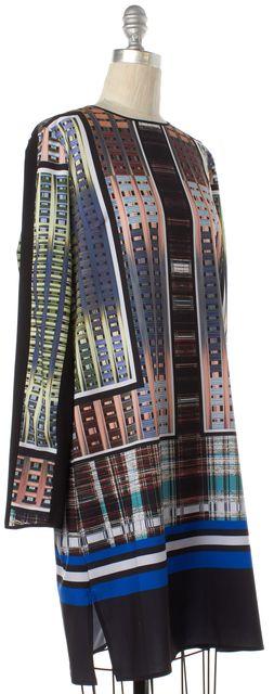 CLOVER CANYON Black Multi Color Graphic Shift Dress