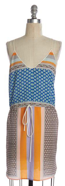 CLOVER CANYON Multi Color Abstract Printed Racerback Blouson Dress
