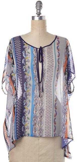 CLOVER CANYON Multi-Color Floral Print Blouse Top