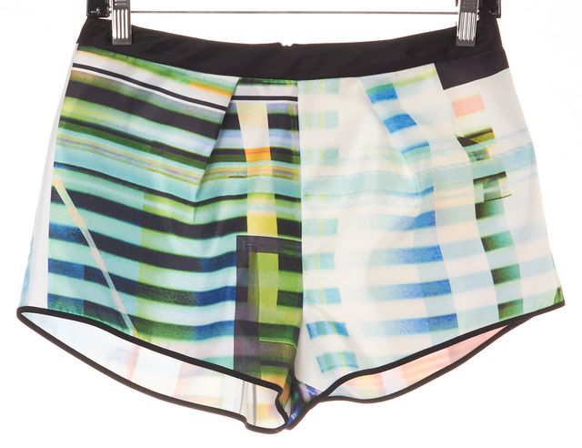 CLOVER CANYON Blue Abstract Mini Shorts